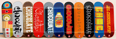 chocolate skateboards